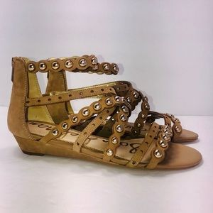 Sam Edelman Duster Strappy Stud Suede Sandals